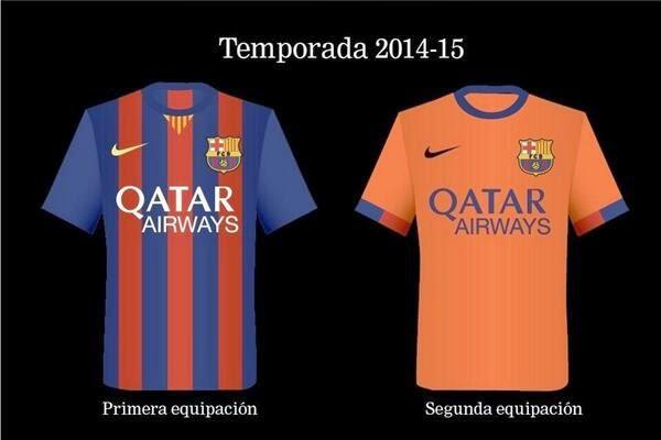 La nueva equipación del Barcelona.