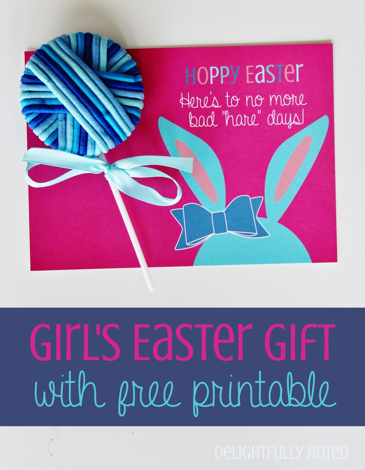 Girl's Easter Gift with Free Easter Printable