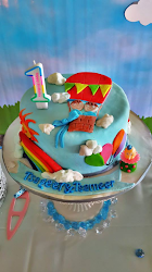 Birthday Cake Hot Air Ballon Theme