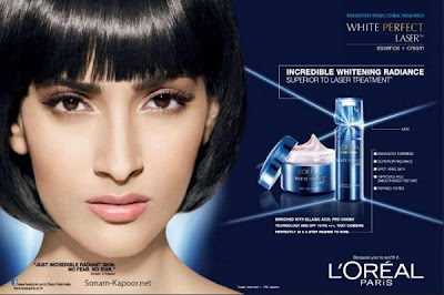 Sonam Kapoor's Latest print Ad for L'oreal Paris