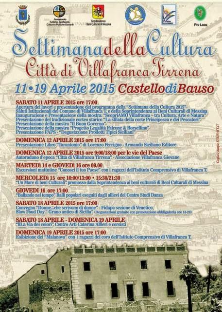 SETTIMANA DELLA CULTURA AL CASTELLO DI BAUSO