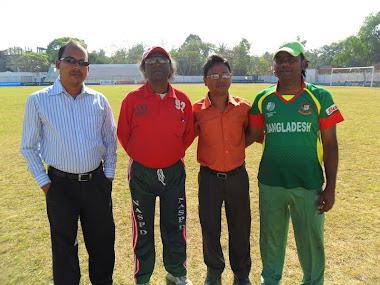 Mr.Sahadat Ahmed , Hafijur Rahman Bulet (Cap BBCC) And Sanowar Ahmed (Coach BBCC)