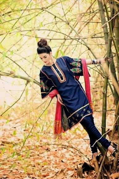 Summer Clothing Lawn Kurti with Tights