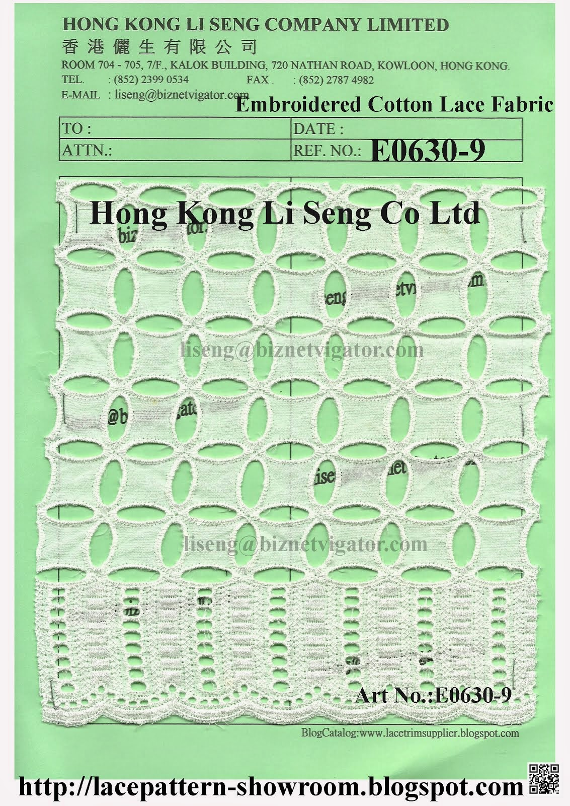 New Embroidered Cotton Lace Fabric Manufacturer Wholesale And Supplier - Hong Kong Li Seng Co Ltd