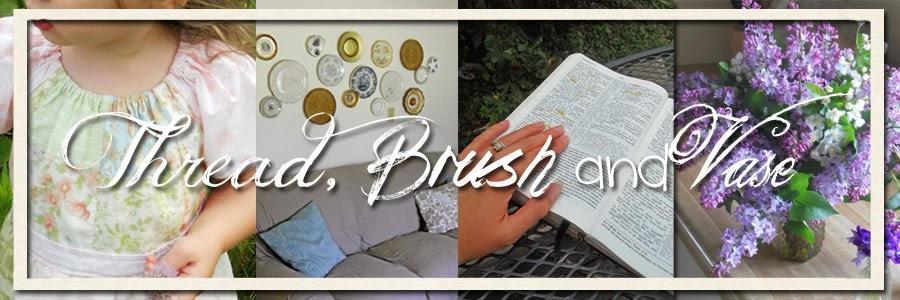 Thread, Brush and Vase