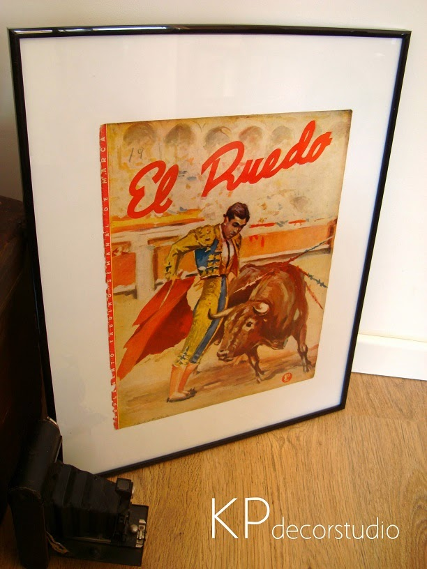 Poster vintage el ruedo, revista taurina para colección. Venta de carteles antiguos vintage.