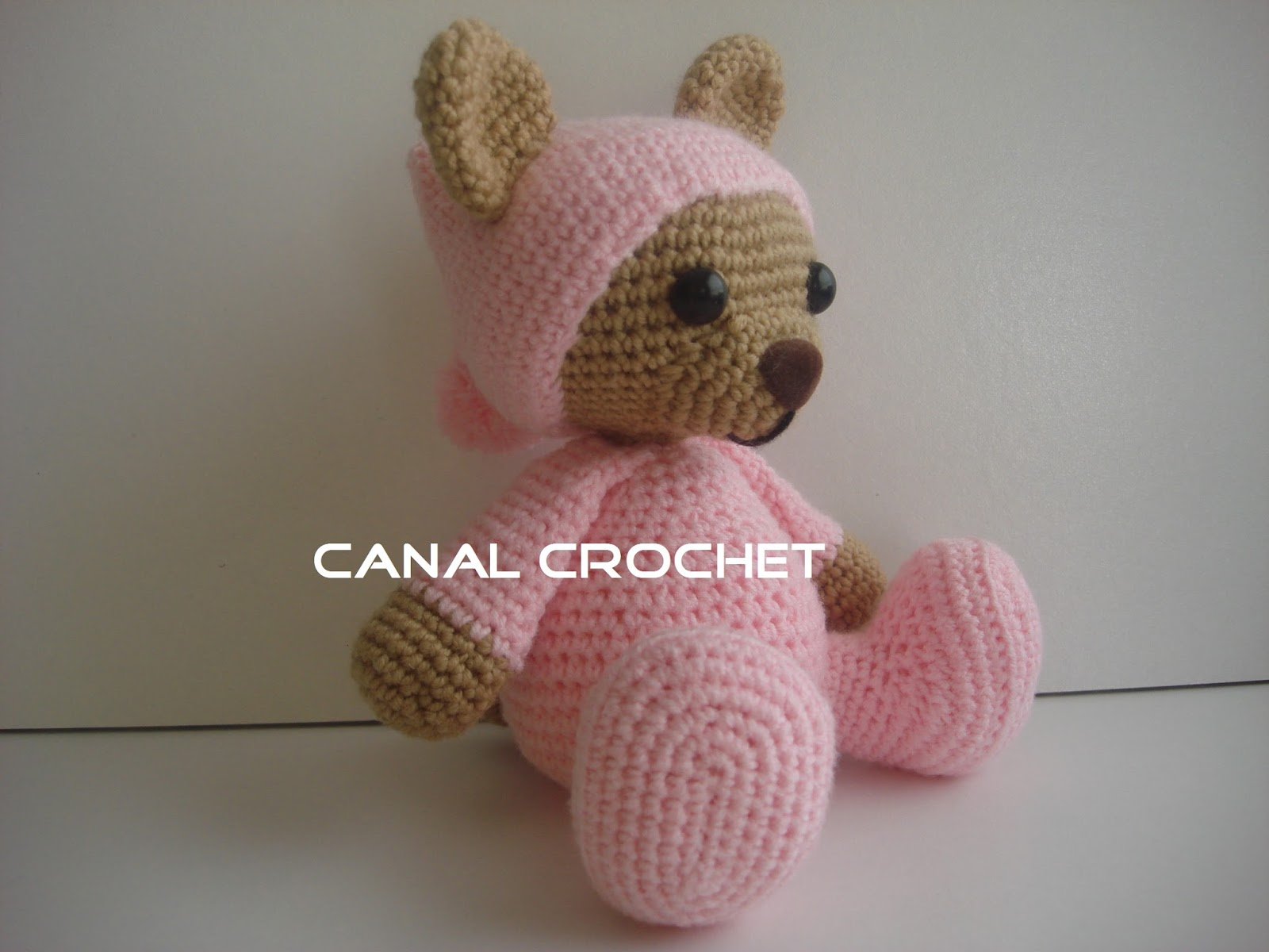 canal crochet oso pijama amigurumi. Black Bedroom Furniture Sets. Home Design Ideas