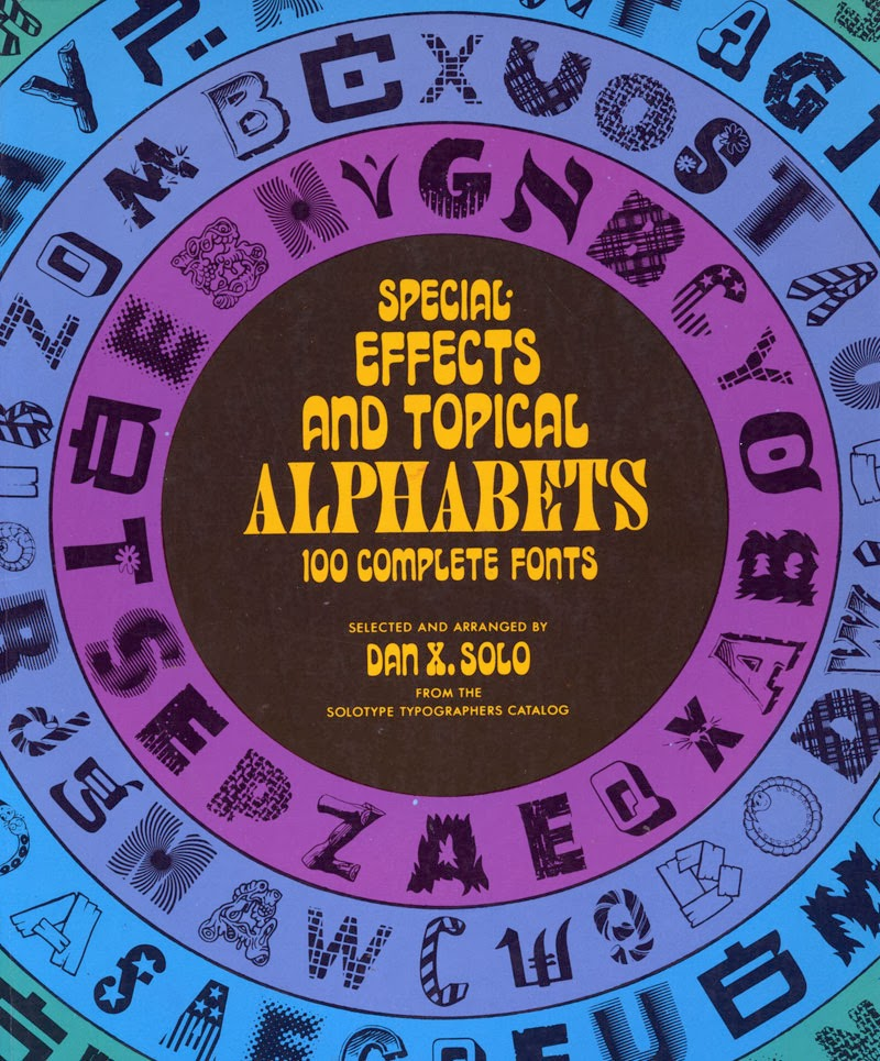 A book of royalty-free alphabets from the 90s