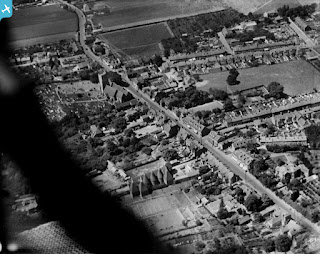 photos of Rainham High Street from the air in 1925