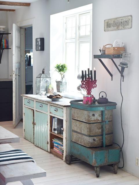 Muebles recuperados pintados { Vintage painted furniture } | EN MI ...