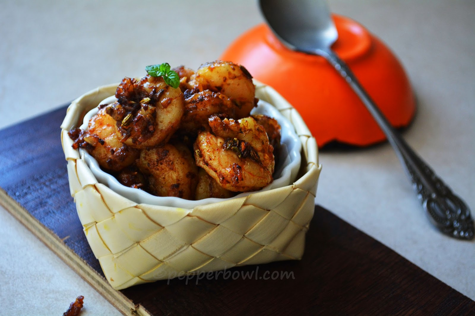 Prawn Stir Fry with Indian spices