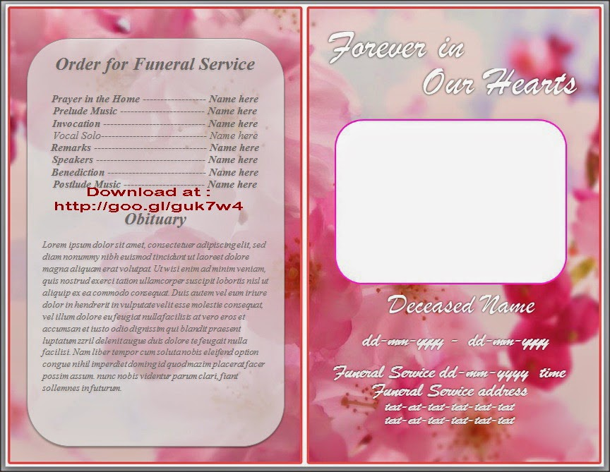 free funeral program template microsoft word - the gallery for funeral program background images