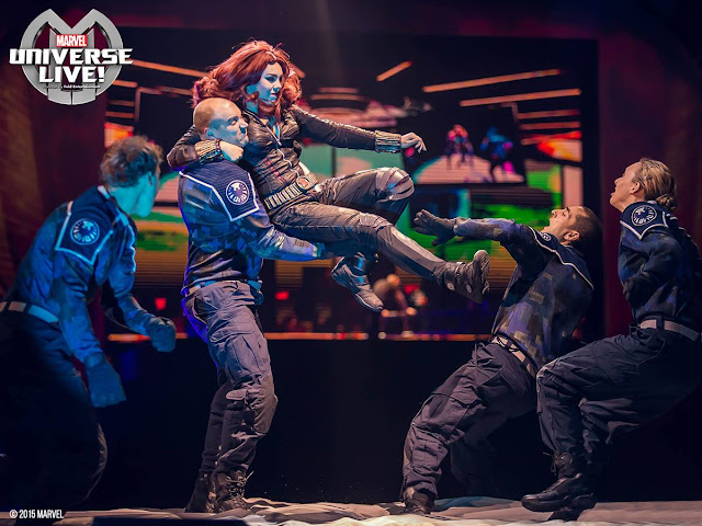 Black Widow kicks butt in @MARVELonTour at @TheQArena in CLE