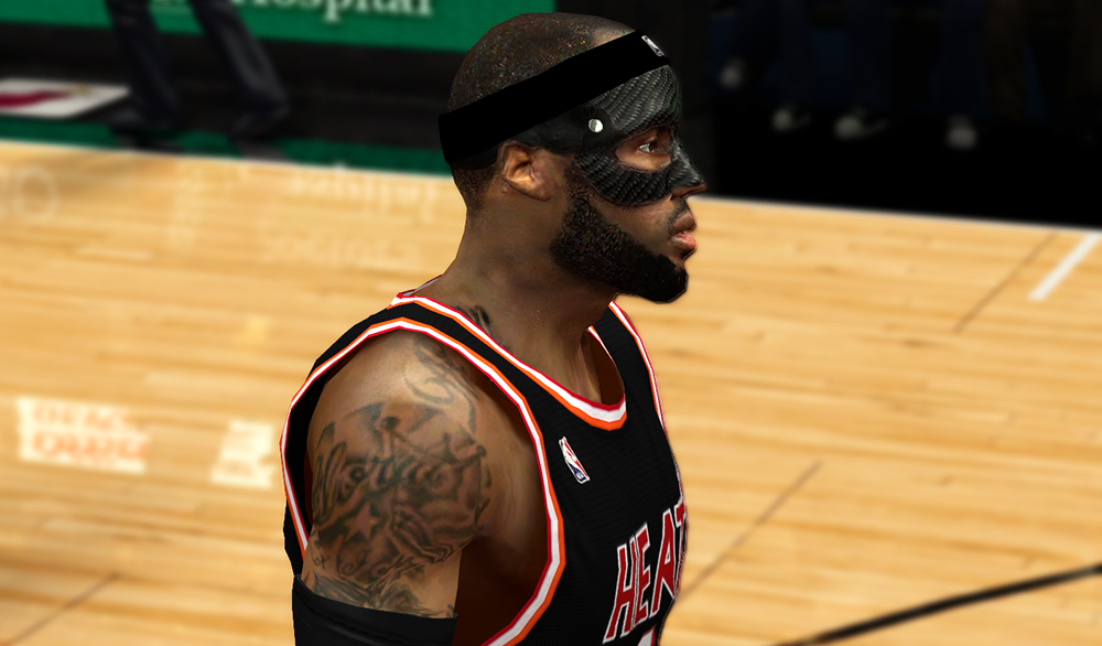 NBA 2K14 LeBron James Black Carbon-fiber Mask Mod