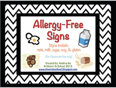 http://www.teacherspayteachers.com/Product/Allergy-Free-Classroom-Signs-370829