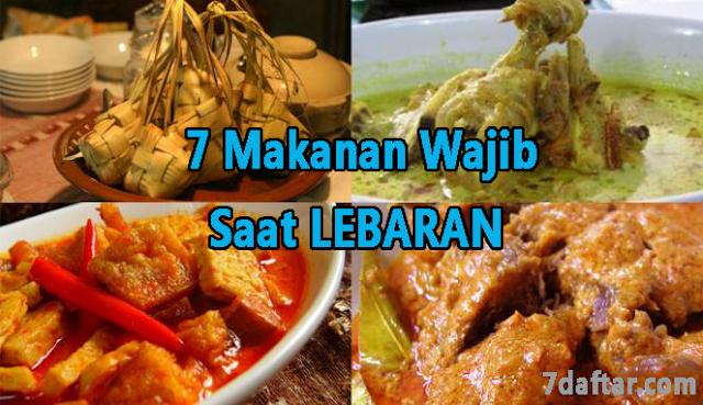 7 Menu Makanan ini TIDAK PERNAH Absen di Hari Lebaran