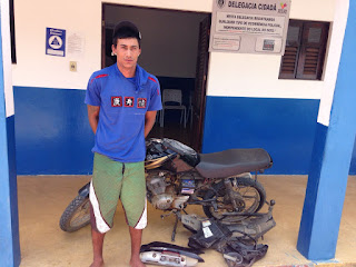 Moto roubada em Coronel Ezequiel é recuperada pela Policia Civil de Cuité
