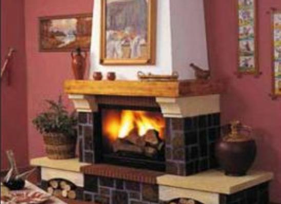Fotos de chimeneas partes de chimenea con le a - Como colocar una chimenea de lena ...