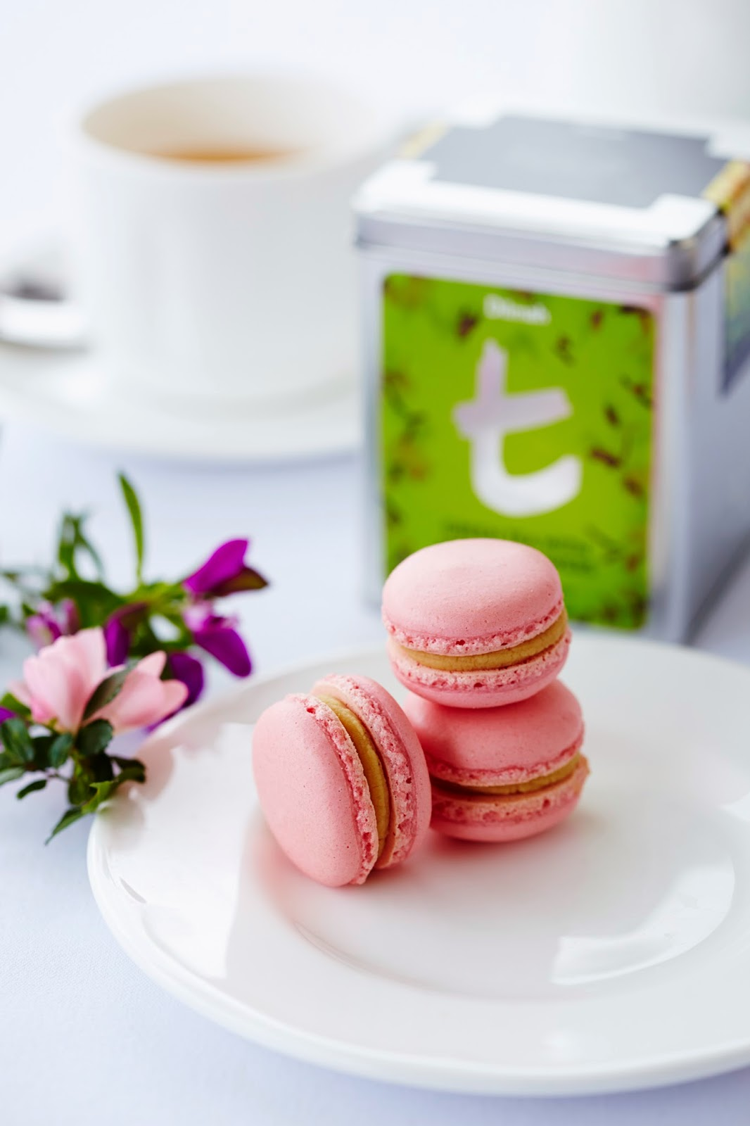Mr Gift Sweet Treats For Your Sweetheart Trio Of Tea Infused Macarons Dilmah Rose With French Vanilla