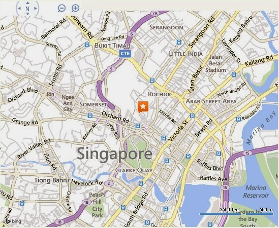 Detail Sinema Old School Singapore Location Map – Tourist Map Of Singapore City