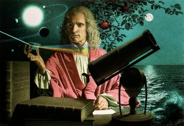 Sir Isaac Newton discovered gravity when an apple fell on his head.