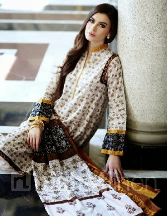 Royal Looking White Printed Lawn Dresses