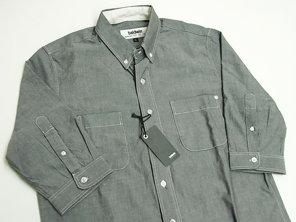 baldwin denim 3/4 sleeve Paulie Oxford Shirts