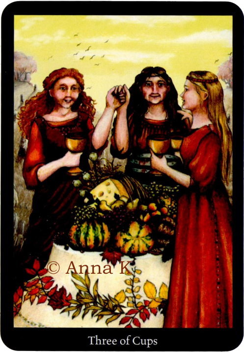 Anna K Tarot Three of Cups