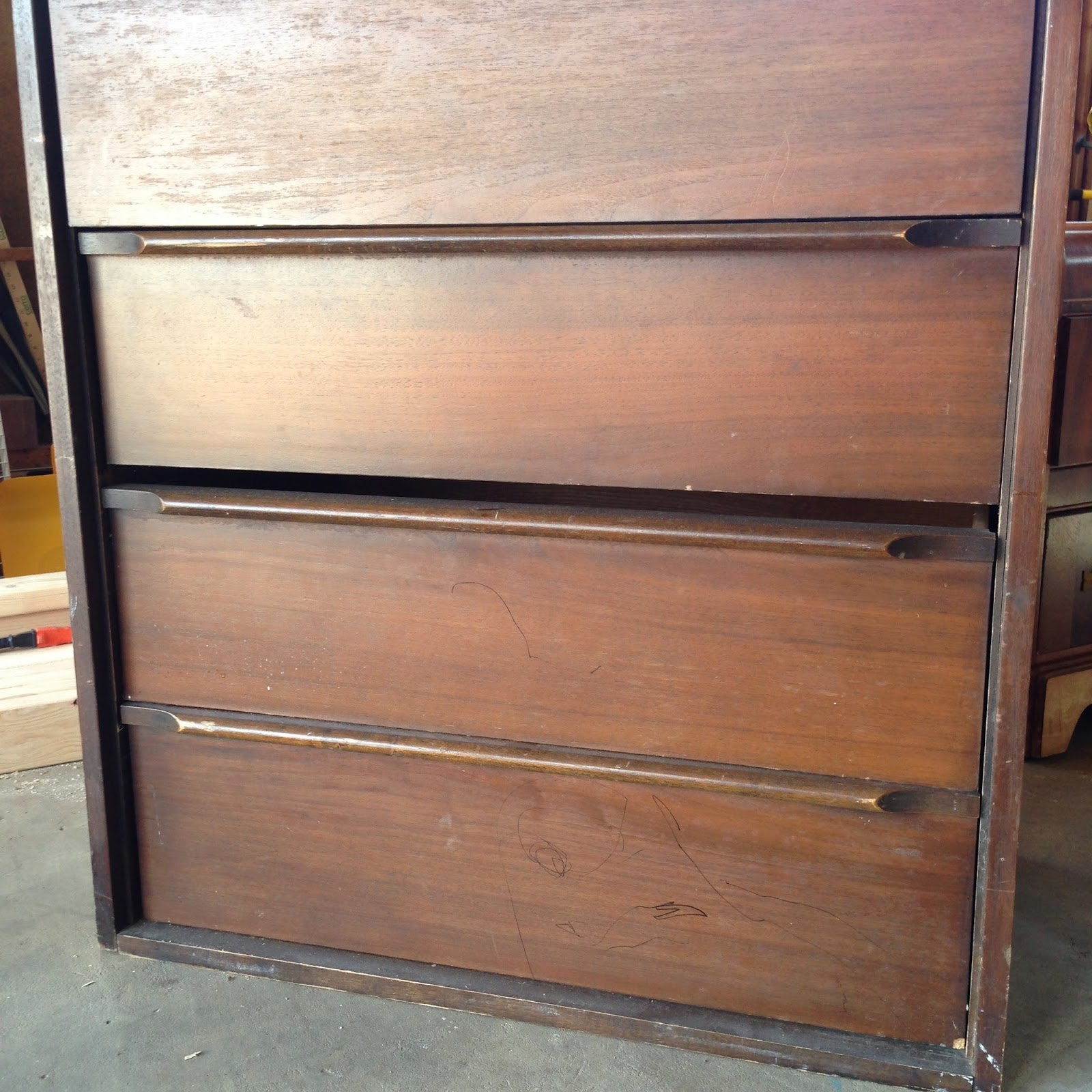 Redo a Dresser without sanding or staining