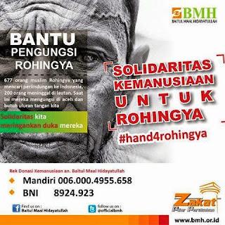 Cara Bantu Pengungsi Rohingya dan Gerakan Solidaritas Kemanusiaan #Hand4Rohingya