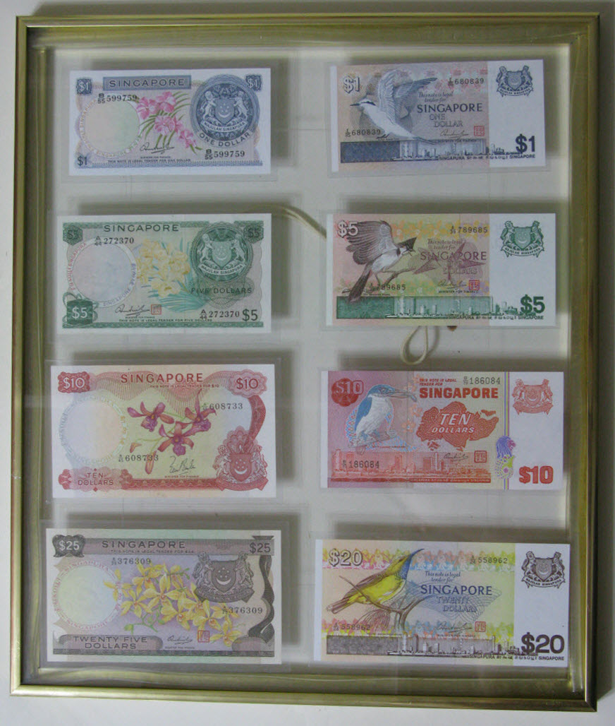 nut\'s Singapore Banknotes Collection: Framing of Banknotes