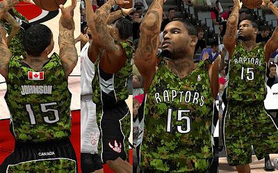 NBA 2K13 Toronto Raptors Military Night Jersey Patch