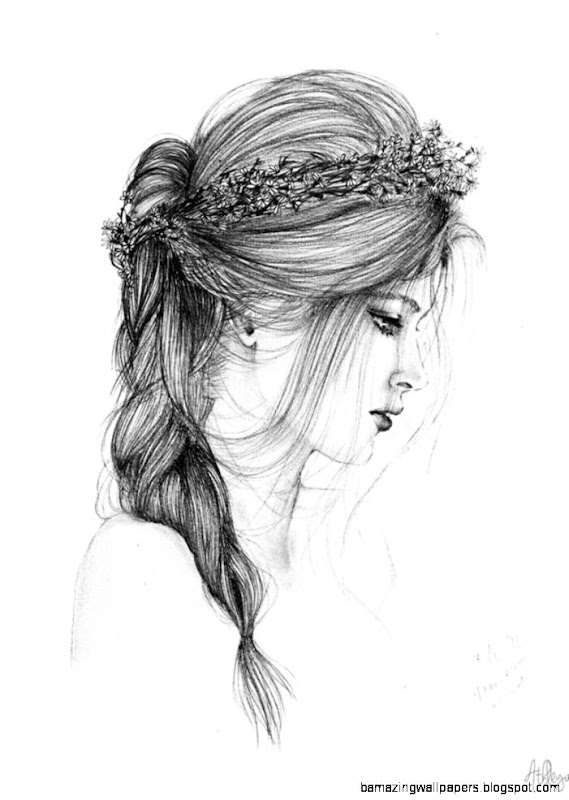 Flower crown girl by slippingspecs on DeviantArt