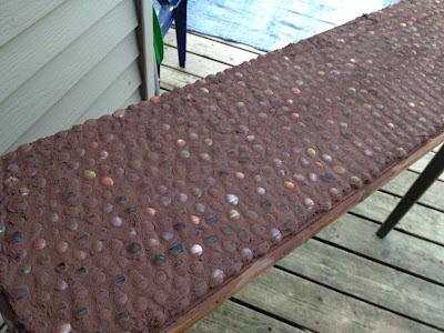 Junk Mail Gems Diy Marble Mosaic Table Top