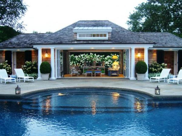 Chateau de lille outdoors hampton style and more of webb for Pool design hamptons