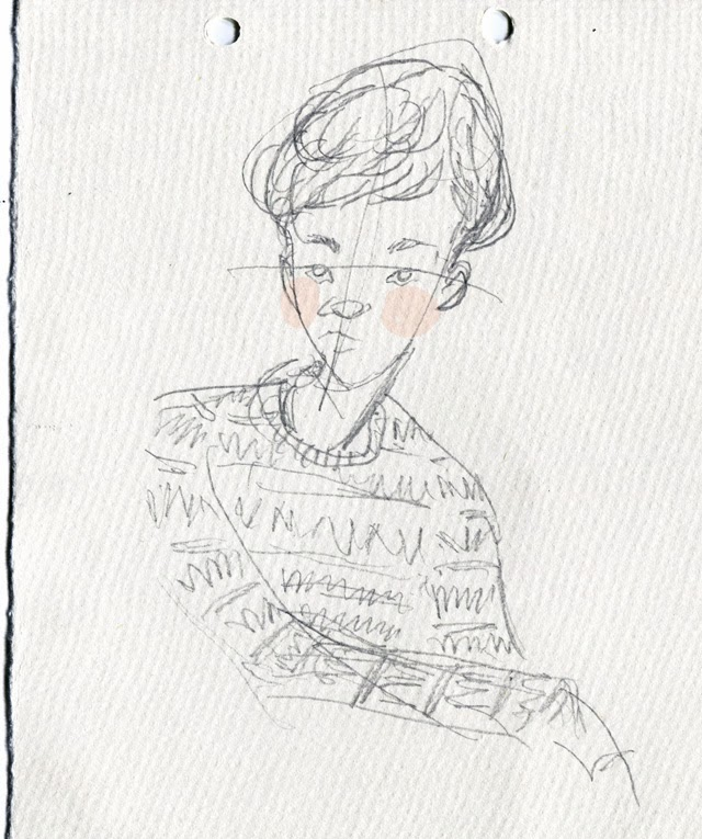 Kitty N. Wong / HK Menswear Streetstyle Sketch