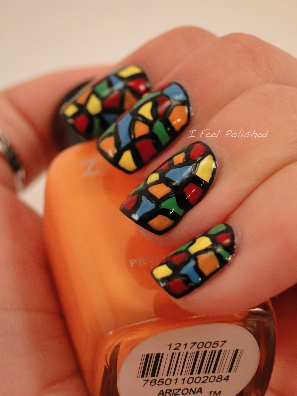 I Feel Polished!: February Challenge: Stained Glass Nails