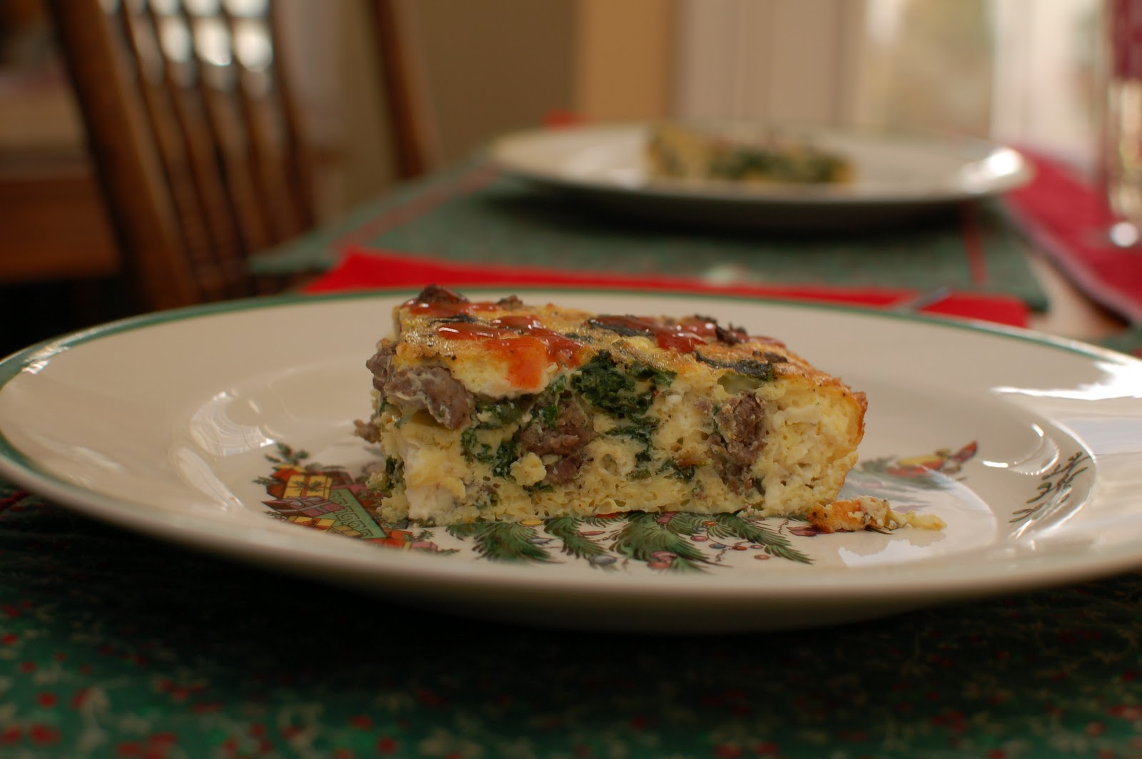 Frittata with Venison Sausage, Chard, and Feta - lb's good ...
