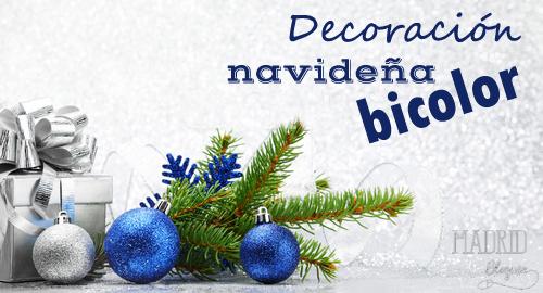 decoración navidad bicolor