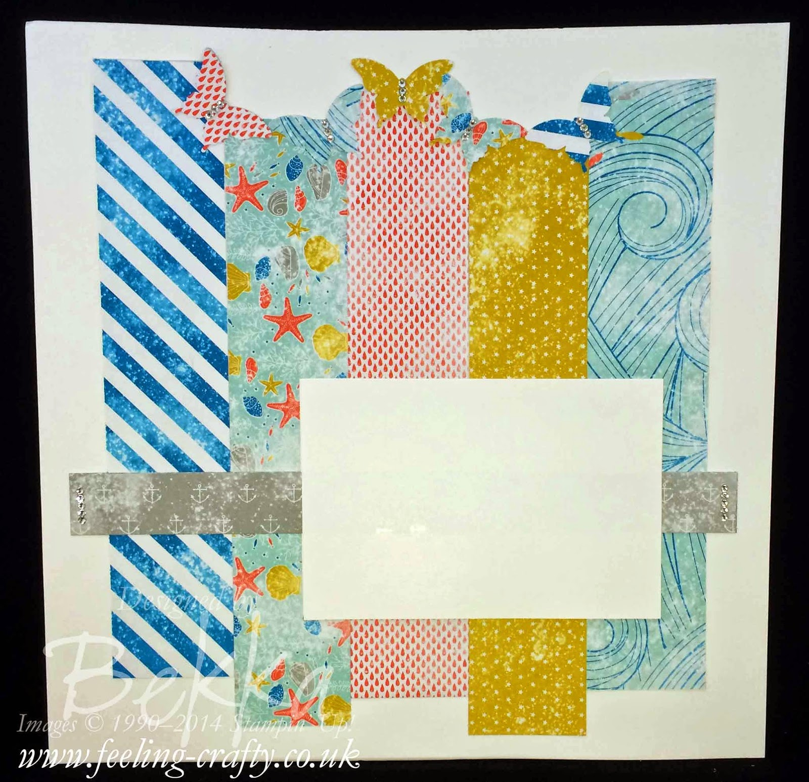 Bright with Butterflies Scrapbook Start Point by Bekka - check her Blog every Saturday for Scrapbooking Ideas