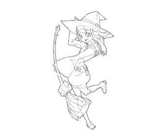 #11 Witch Coloring Page