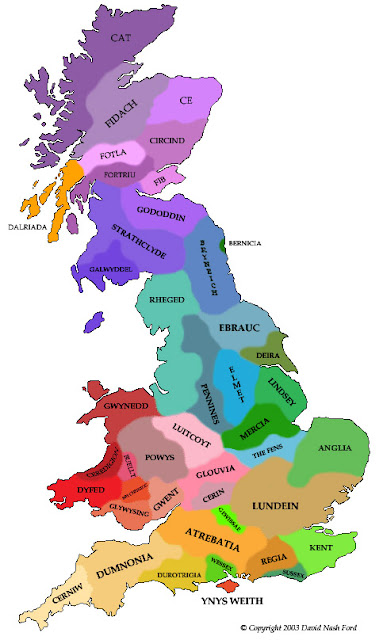 Map of Britain Country and City