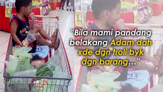 Detik cemas apabila ibu kehilangan semasa sibuk membeli-belah di NSK