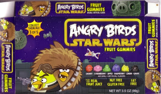 Front of Angry Birds Star Wars Fruit Gummies box