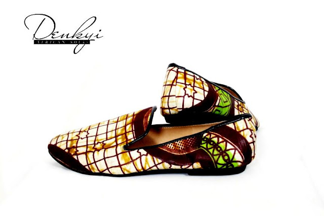 African print shoes by Denkyi - Chaussure en pagne sure ciaafrique