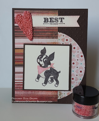 Simon Says Stylish Simon Boston Terrier Card with Mimi Prills