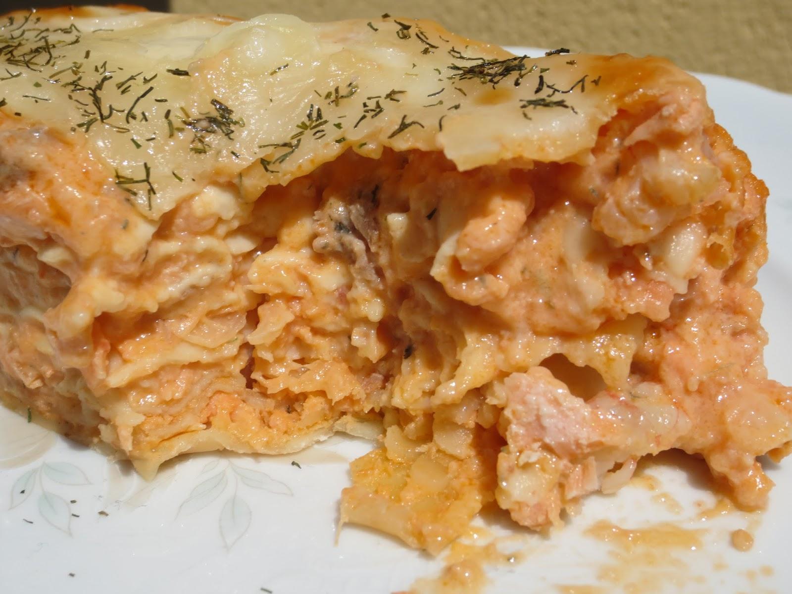 lasa a de salm n y gambas On lasana de salmon