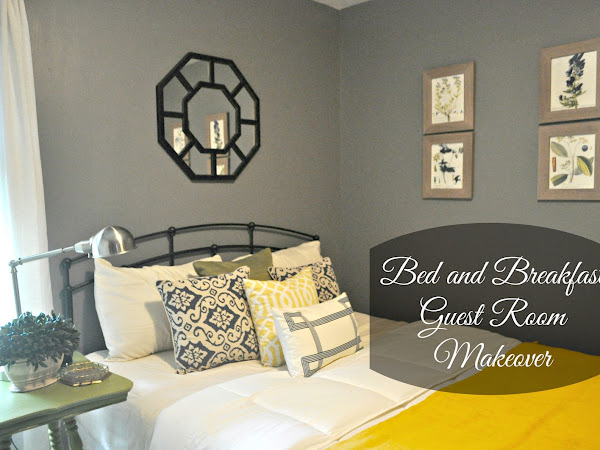 Bed and Breakfast Style Guest Room Makeover