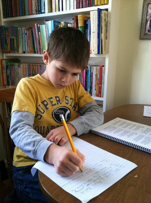 Homeschool poetry memorization