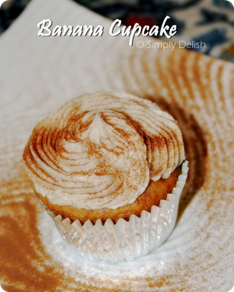 Banana Cupcakes with Honey Cinnamon-Frosting | Simply ...